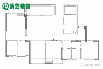 泸州天誉珑城140平现代轻奢风格效果图